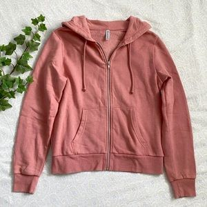 H&M Divided casual zip jacket w/ hood, pink